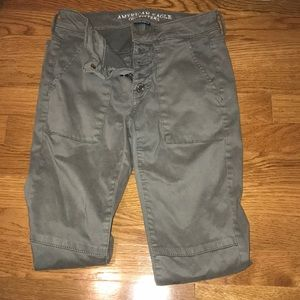 American Eagle army green jegging